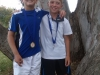 Championship Winner of boys u/10 A, Melt van As,  left and runner up, Luke Bosman,  right