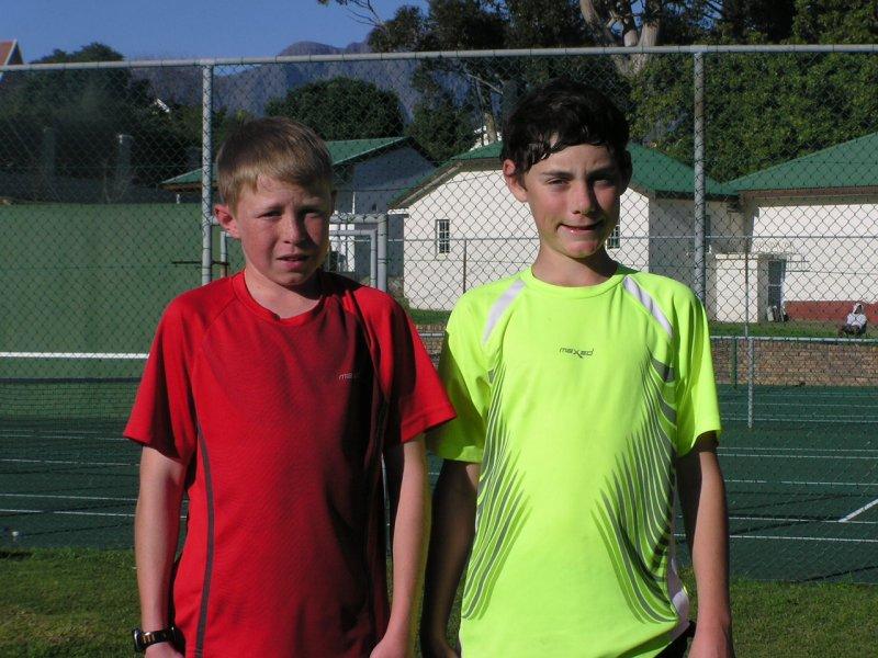4th (Stefan Eckley) & 3rd place (Altus Cilliers)boys u/13 A section