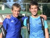 2nd (Hanro Daniel vd Merwe) & 1st place (Rikus Brand) boys u/13 A section