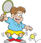 Tennis Kid Cartoon
