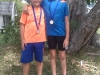 winner Gold Plate boys u/10A, Francois Decksen , right & LD Nel 2nd, left